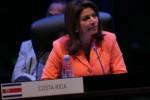 La presidenta de Costa Rica aseguró que tras las próximas elecciones en su país el venidero gobierno impulsará la integración inteligente con naciones de América Latina y el Caribe.