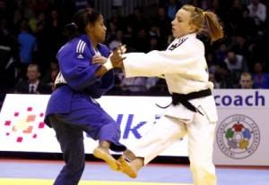 Dayaris Mestre, a la izquierda, peleará también en el Abierto de Arlon, Bélgica.