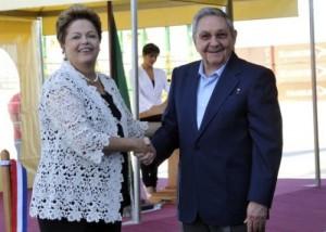 Raúl y Dilma durante la inauguración de la primera fase de Puerto Mariel.
