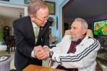 Fidel y Ban Ki-moon trataron diversos temas que influyen decisivamente en los conflictos regionales.