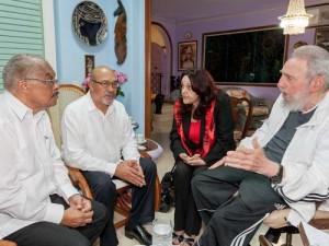 Fidel y Desiré intercambiaron sobre aspectos analizados en la II Cumbre de la CELAC.