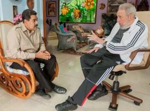Fidel y Maduro dialogaron amistosamente sobre los avances de la Revolución Bolivariana.