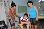"""""""Quiero que sea siempre mi maestra"""", dice Fabiana."""