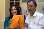 Ban Ki-moon y Mariela Castro. Foto: AP
