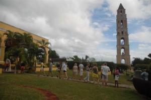 La torre Manaca Iznaga, principal atracción turística de la zona.