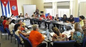 Intercambio entre delegados al XX Congreso de la CTC con representantes del Parlamento cubano y el ICAP.