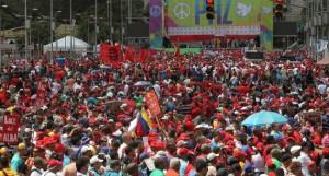 La avenida Bolívar de Caracas se repletó de quienes promueven la paz, la solidaridad y el amor por la patria.