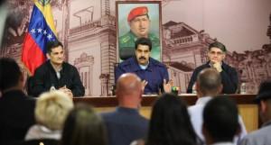 Maduro sostuvo una rueda de prensa con medios venezolanos e internacionales.