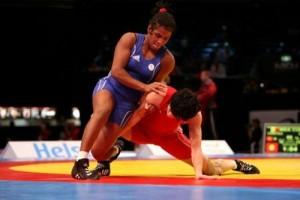 Yamilka del Valle, de azul, consiguió el título plateado al caer en la final ante la estadounidense Helen Mouris.