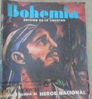 Primer número de Bohemia en enero de 1959 que inauguró la trilogía bautizada como Edición de la Libertad.  (fotocopia de Bohemia)