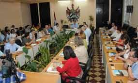 El encuentro se produjo en el contexto del evento internacional Universidad 2014.