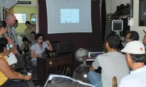Elvia Rosa Castro ha dictado varias conferencias en El garaje fotográfico.