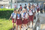 Los niños espirituanos aprenden cómo cuidar su villa de 500 años de edad.