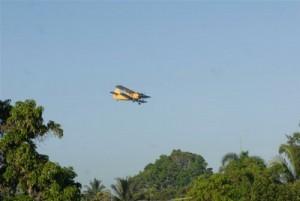 Según los especialistas, las características de la fumigación y las cantidades utilizadas hacen que ocurra una dispersión en el aire, que posibilita solamente la muerte del mosquito.