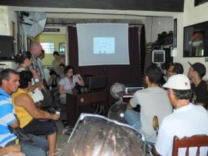 El evento contó con la presencia de alumnos matriculados en El garaje fotográfico de Álvaro José Brunet.