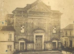Antigua edificación ubicada en la zona del parque Serafín Sánchez, demolida a principios del siglo XX.