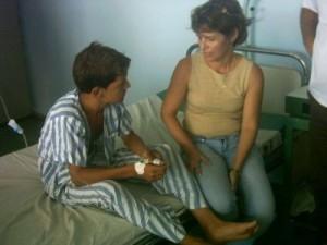 Luego del rescate los niños fueron remitidos al Hospital Pediátrico Eliseo Noel Caamaño, de Matanzas.