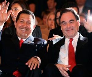 El Comandante Hugo Chávez junto al cineasta norteamericano Oliver Stone.