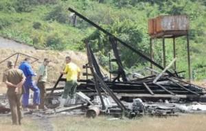 La unidad de pirotecnia El Palenque se localiza a unos 2 kilómetros de Zaza del Medio. (foto: Vicente Brito)