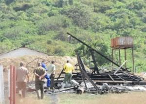 En este punto del taller de pirotecnia se preparaba la pólvora de los fuegos artificiales. (Foto: Vicente Brito).