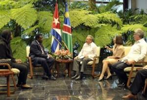 Ambos dirigentes intercambiaron sobre el excelente estado de las relaciones bilaterales.