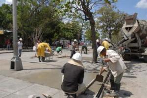La recuperación de parques ha sido prioridad para la Dirección Provincial de Servicios Comunales.