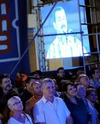 Miguel Díaz-Canel Bermúdez, Primer Vicepresidente de los Consejos de Estado y de Ministros, presenció el concierto.