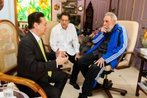 Encuentro de Fidel con Nguyen Tan Dung, Primer Ministro de la República Socialista de Vietnam. Foto: Alex Castro. Foto: Alex Castro.