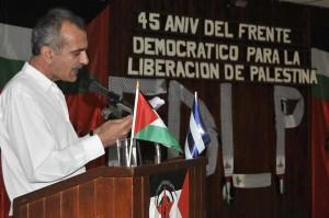 Walid Ahmad, representante en Cuba del Frente Democrático para la Liberación de Palestina (FDPL).