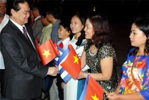 El alto dirigente vietnamita sostendrá conversaciones oficiales con el presidente cubano, Raúl Castro.