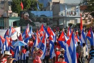 Cada Primero de Mayo se convierte en una marcha proletaria en toda la geografía espirituana.