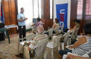 La conferencia inaugural estuvo a cargo de Humberto Concepción, presidente de la UPEC en Sancti Spíritus.