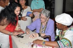 Como un regalo adicional para la provincia fue interpretado el regreso de la investigadora del folclore nacional Natalia Bolívar.