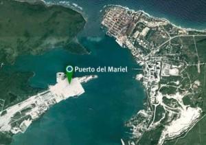 Vista aérea de la zona portuaria.