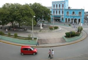 El parque Serafín Sánchez antes de comenzar las labores de reparación en febrero de 2014.