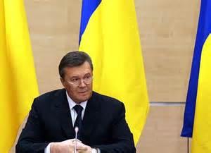 """Yanukóvich advirtió que """"bajo el respaldo de países occidentales, en Ucrania se producen abiertos actos de terror y violencia""""."""