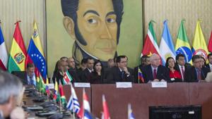 """La misión reafirma el apoyo a la democracia y resalta la voluntad del bloque en apoyar """"un proceso de diálogo amplio y respetuoso""""."""