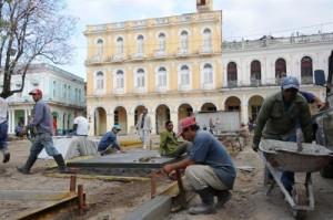 La reparación capital del parque Serafín Sánchez constituye la más importante de las obras que se ejecutan hoy en Sancti Spíritus.