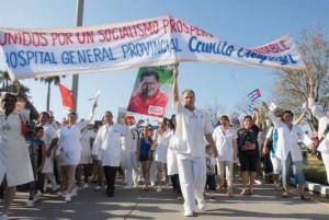 Los trabajadores de Salud encabezarán el desfile proletario.