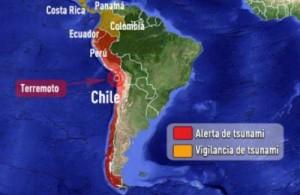 Honduras y Perú también emitieron alertas de tsunami la noche del martes.