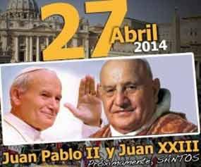 El papa Francisco declaró santos a los dos pontífices en la Plaza de San Pedro del Vaticano.