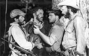 Escena del filme El hombre de Maisinicú, inspirado en la vida de Alberto Delgado.