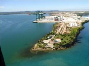 Esta Terminal es la más moderna terminal de contenedores del Caribe, ejecutada por la constructora brasileña Odebrecht.