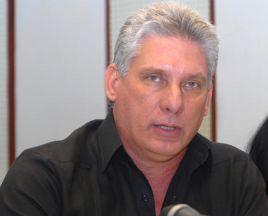 Miguel Díaz-Canel, primer vicepresidente cubano asiste a la Cumbre de la AEC, en México.