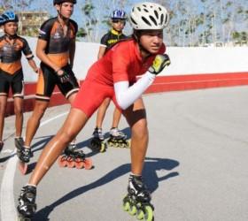 La patinadora Haila Brunet se agenció ocho medallas en igual cantidad de eventos.