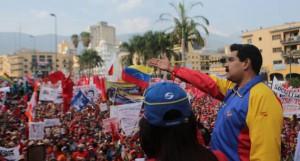 Nicolás Maduro encabezó la celebración obrera.