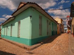 El empedrado de las calles acentúa el ambiente colonial del Centro Histórico.