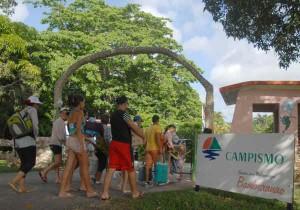 Más de 43 500 personas acudieron a las instalaciones del Campismo Popular en el 2013.