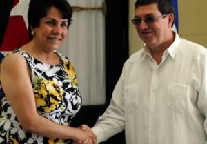 La canciller hondureña, Mireya Agüero se encuentra de visita oficial en Cuba.