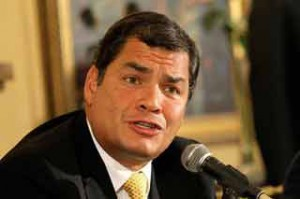 Si actuamos en conjunto, seremos nosotros los que le pondremos las condiciones al capital transnacional, aseveró Correa.